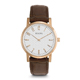 Bulova Mens Gold Finish Watch with Leather Strap - 97A106 - IN STOCK