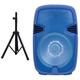 Supersonic 15 in. Portable Bluetooth DJ Speaker With Stand - Blue - IQ-3415DJBTBLU / IQ3415DJBTB - IN STOCK