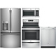 G.E. 4 Pc. Stainless French Door Kitchen Package - GE26SSFDKIT - IN STOCK
