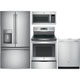 G.E. 4 Pc. Stainless French Door Kitchen Package - GESTSFDKIT - IN STOCK