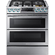 Samsung NX58K9850SS 5.8 Cu. Ft. 5 Burner Stainless Gas Slide-in Flex Duo Range - NX58K9850SS - IN STOCK