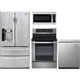 LG 4 Pc. Stainless French Door Kitchen Package - LG27ST4DRKIT - IN STOCK
