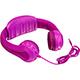 Aluratek Volume-Limiting Wired Foam Headphones - Pink - AKH01FP - IN STOCK