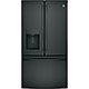 G.E. GFE28GGKBB 28 Cu Ft. Black French Door Refrigerator - GFE28GGKBB - IN STOCK