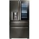 LG LMXC23796D 23 cu. ft. Black Stainless InstaView 4-Door French Door Counter Depth Refrigerator - LMXC23796D - IN STOCK