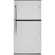 G.E. GIE21GSHSS 21 Cu. Ft. Stainless Steel Top Freezer Refrigerator - GIE21GSHSS - IN STOCK