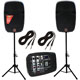 Mr. Dj PBX210COMBO Portable 2x10 in. 2-Way Active Speaker System  - PBX210COMBO - IN STOCK
