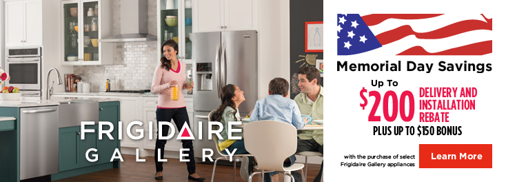 Frigidaire Delivery & Install Rebate