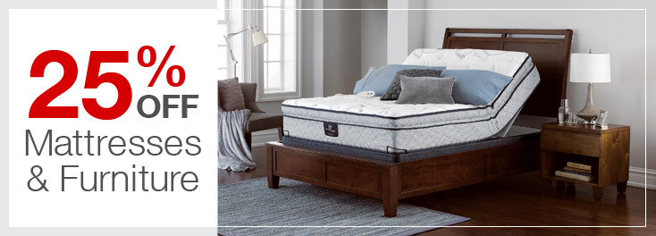 25% Off Mattresses & Furniture