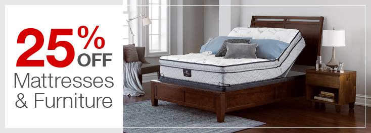 25% Off Mattresses & Furniture