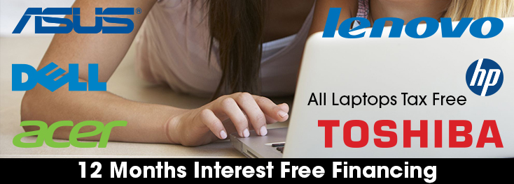 Get Tax Free on all Laptops