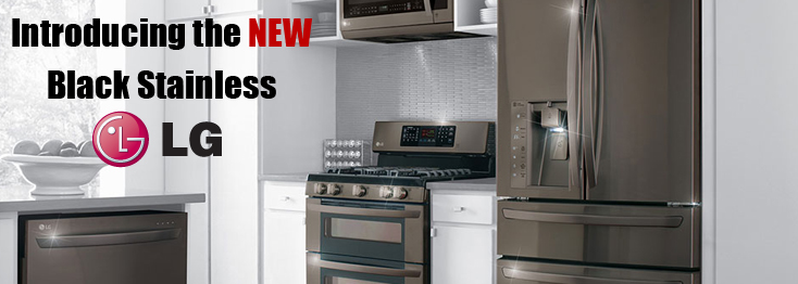 Lg New Black Stainless Set