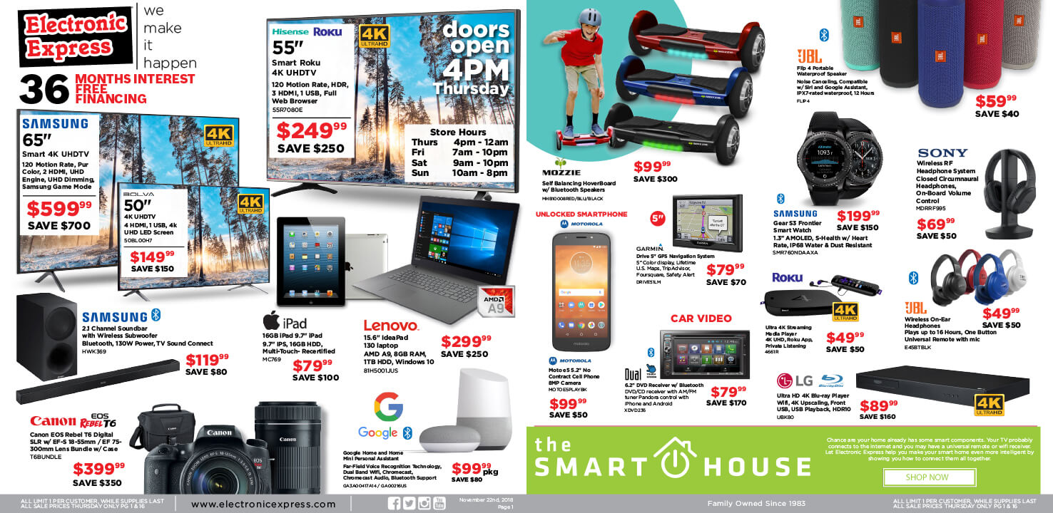 Black Friday Deals Electronic Express