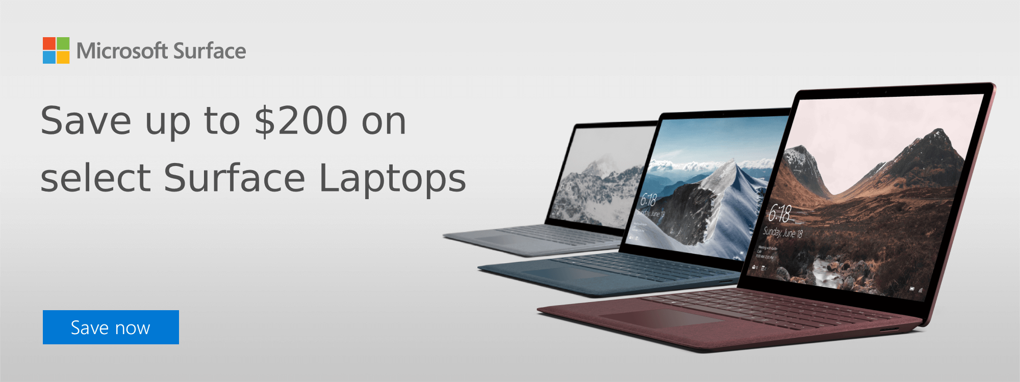 Save up to $200 on select Surface Laptops