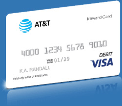 Swith to AT&T and get a $250 AT&T Visa Reward Card*