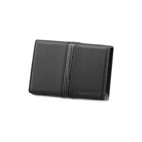 Leather Carrying Case with Stylus (Black)