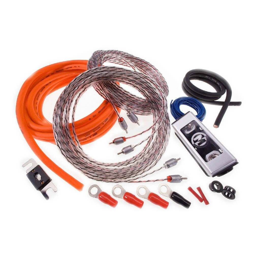 8 Gauge Amplifier Kit with RCA Cables