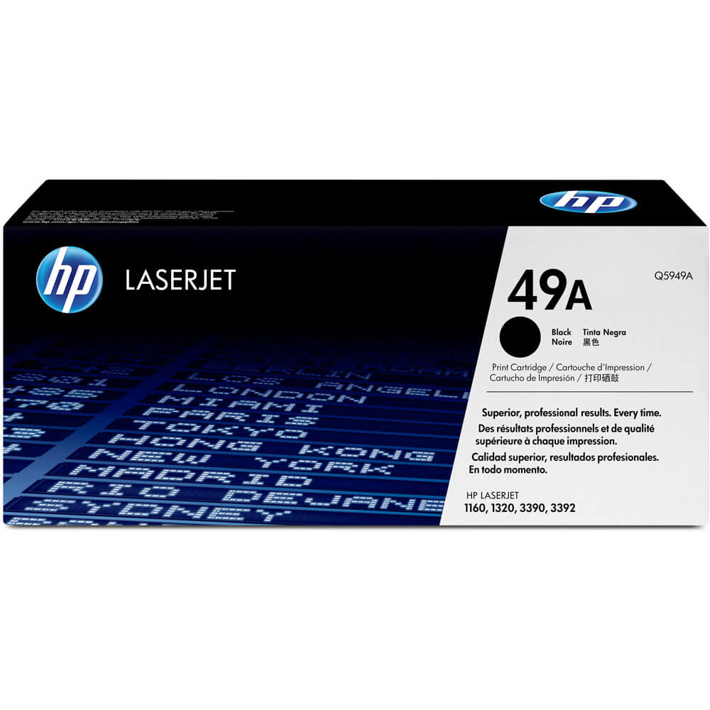 LaserJet 49A Black Print Cartridge in Retail Packaging