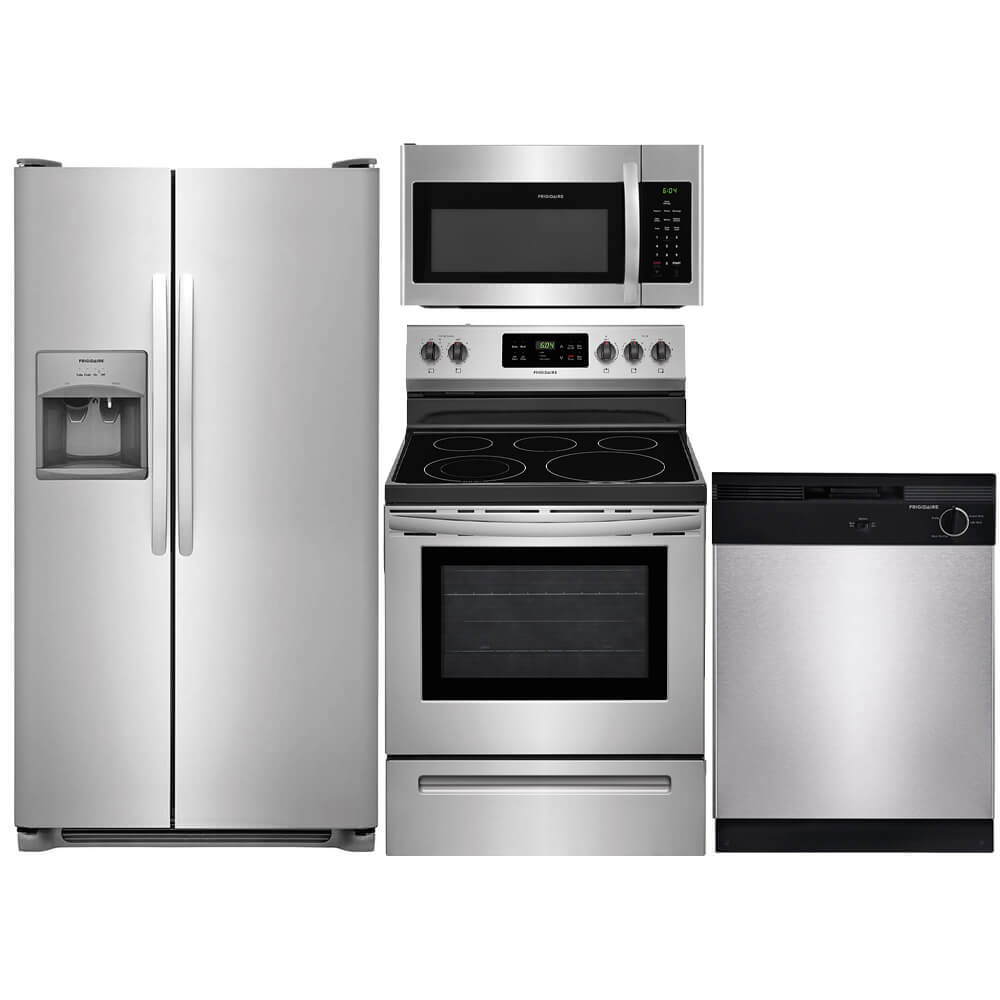 4 Pc. Stainless Side-by-Side Kitchen Package