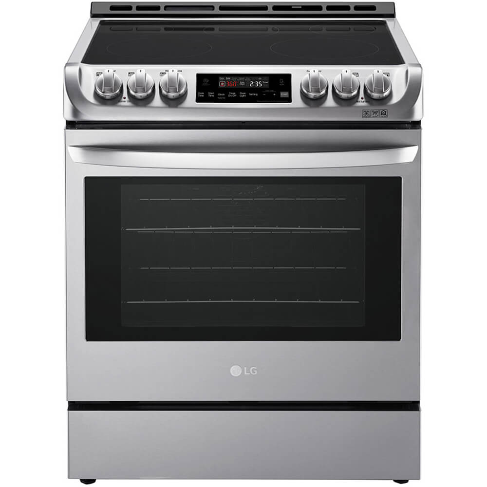 6.3 Cu. Ft. Stainless Slide-In Electric Convection Range