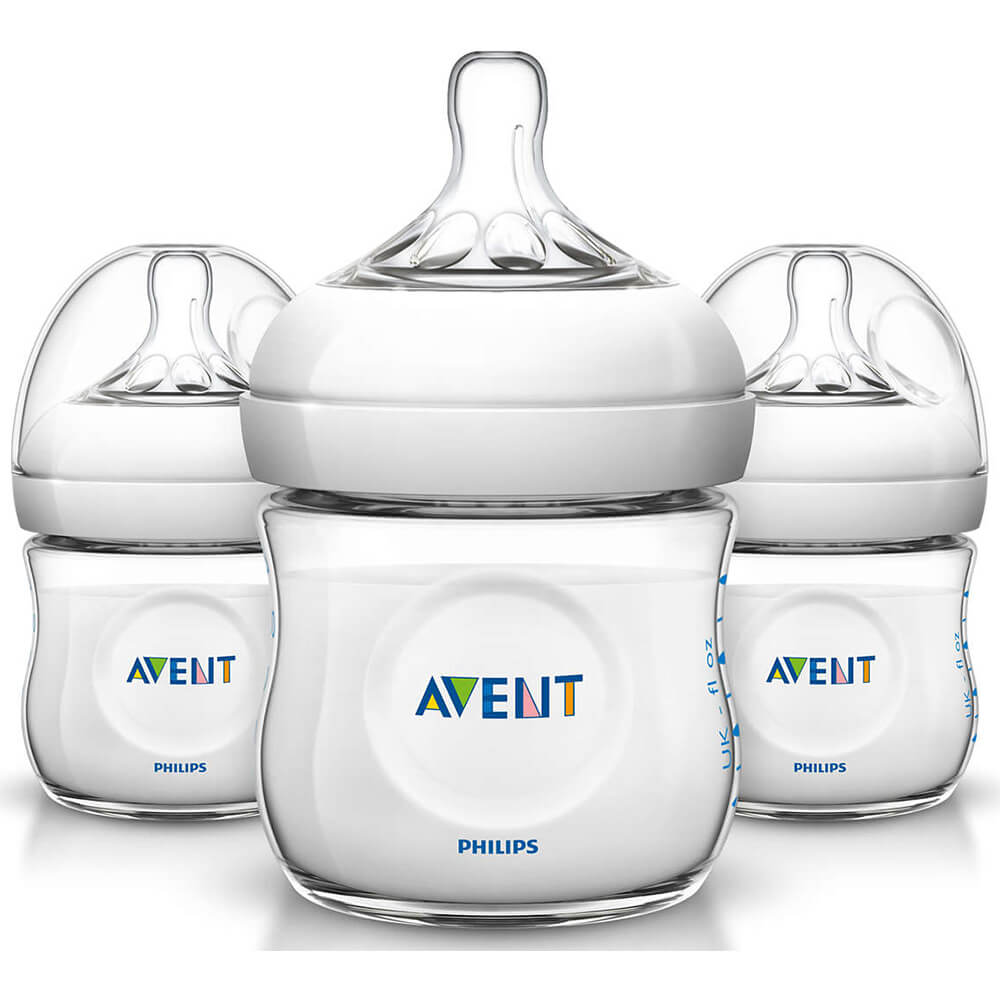 Avent 4oz Natural Baby Bottle - 3 Pack