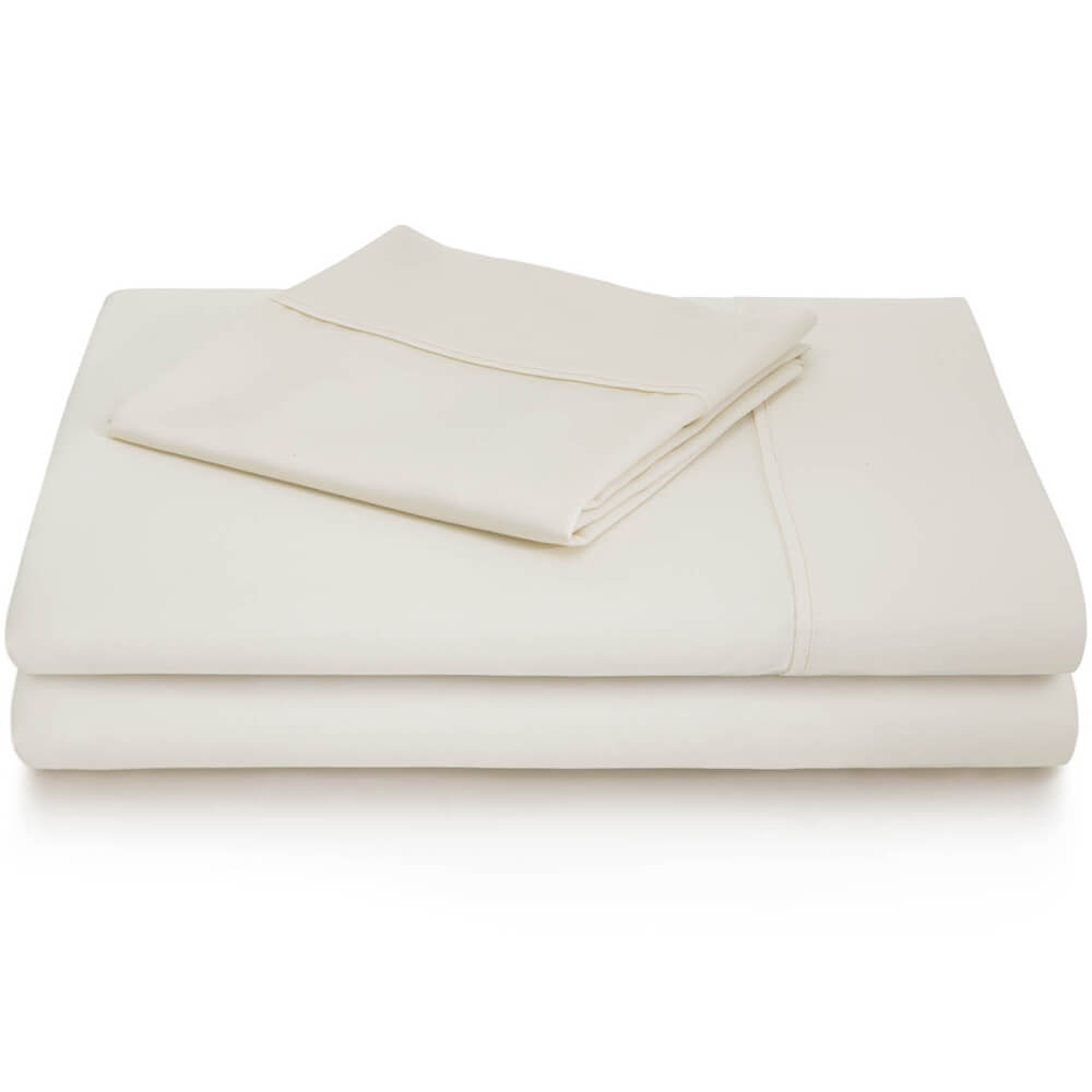 600 Thread Count Cotton Blend Sheets - Queen / Ivory