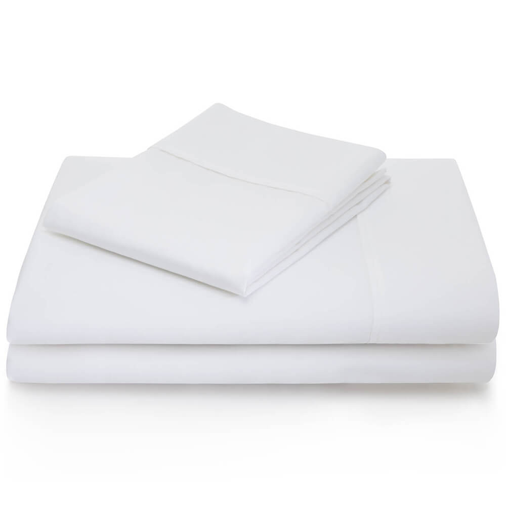 600 Thread Count Cotton Blend Sheets - Twin / White