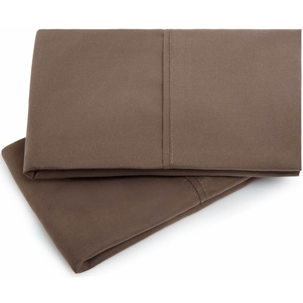 Brushed Microfiber Pillowcase Set - Queen / Chocolate