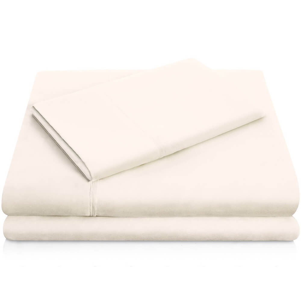 Brushed Microfiber Sheets - Twin / Ivory