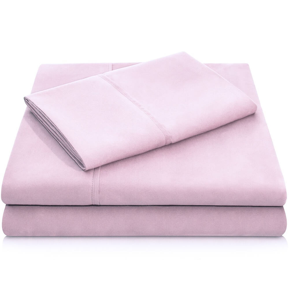 Brushed Microfiber Sheets - Queen / Blush