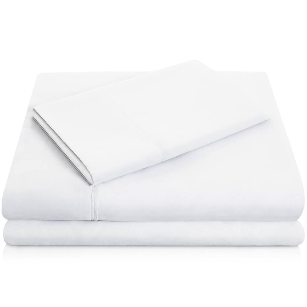 Brushed Microfiber Sheets - Queen / White
