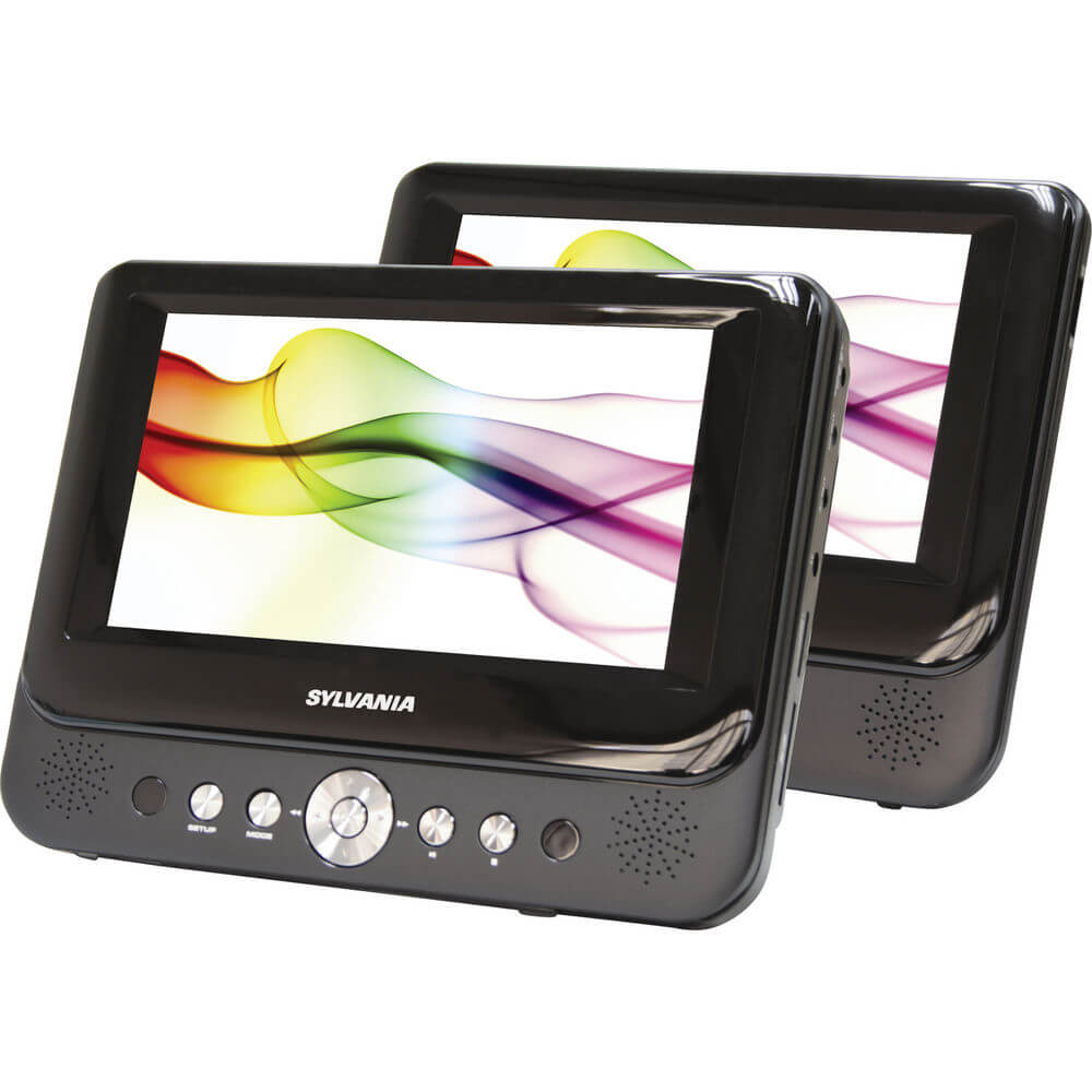 9 inch Dual Screen Portable DVD Player - Recertified