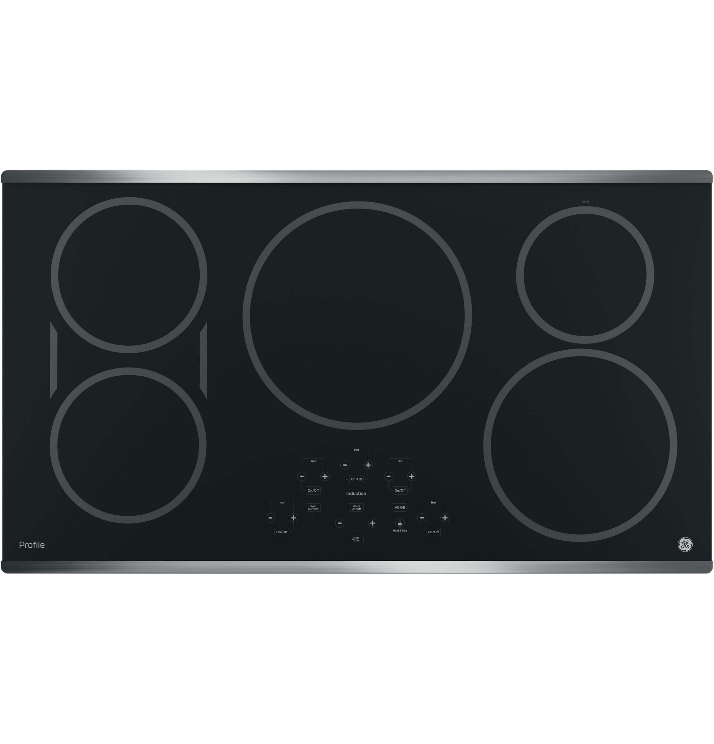 36 inch Stainless 5 Burner Induction Cooktop