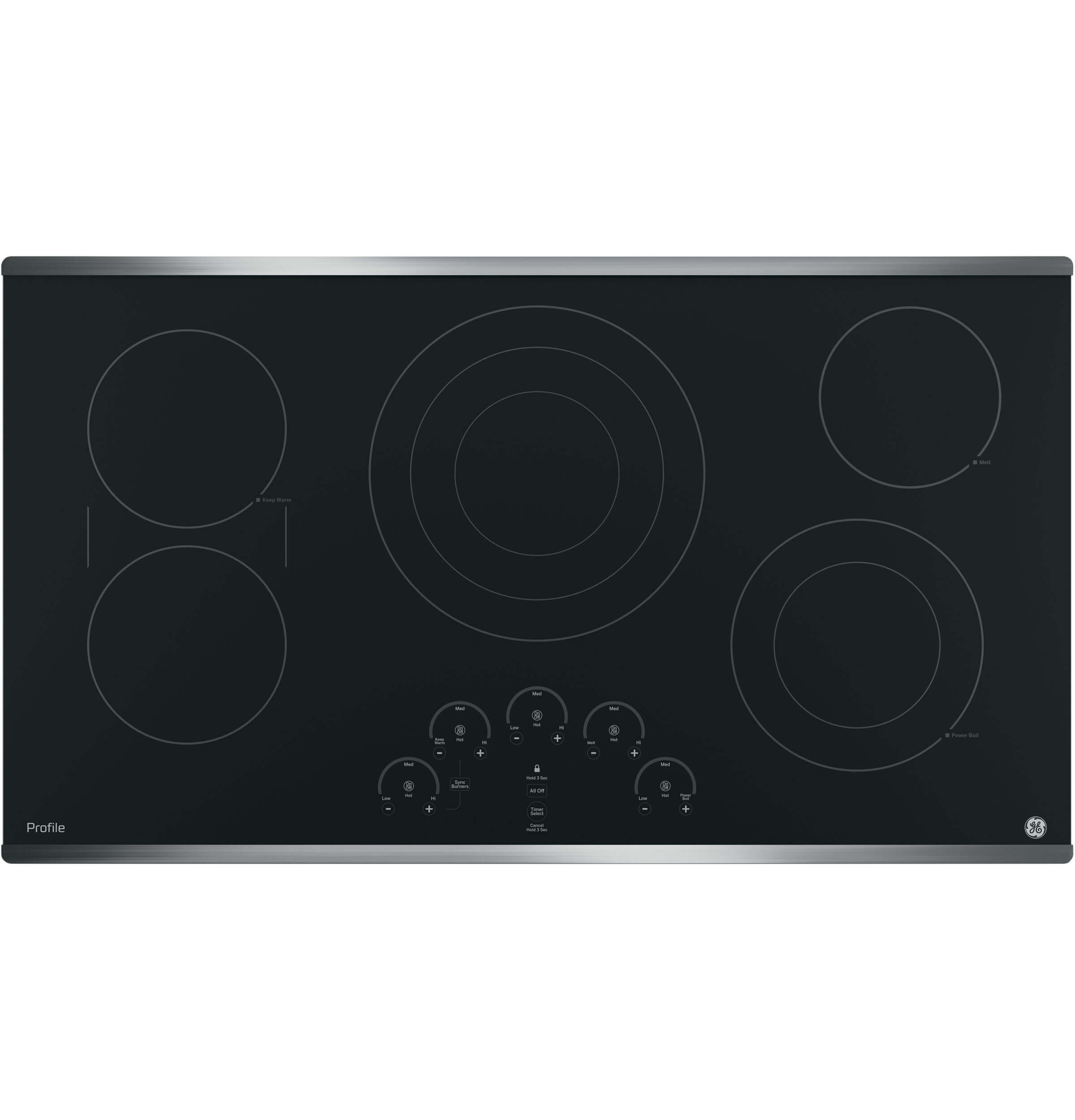 Stainless Steel Profile Series 36 inch Built-In Touch Control Cooktop