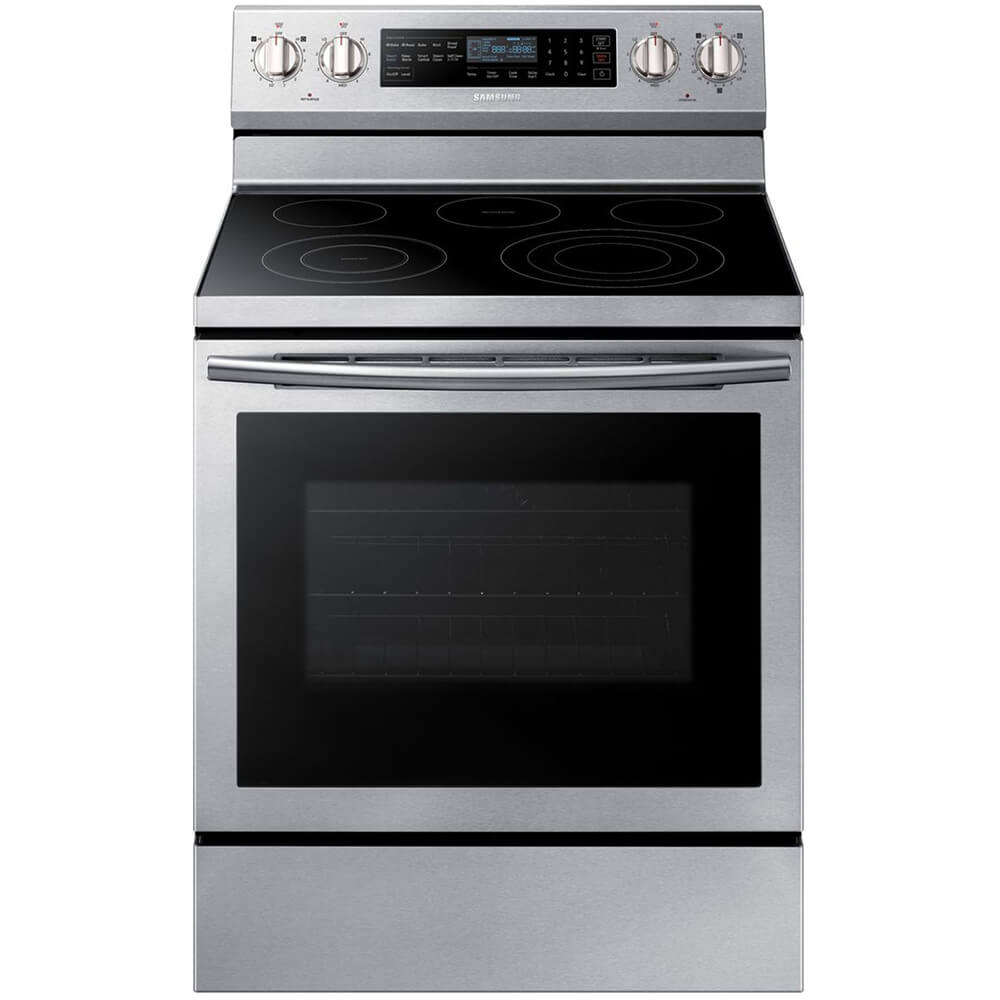 5.9 Cu. Ft. Stainless Electric Range with Steam Assist