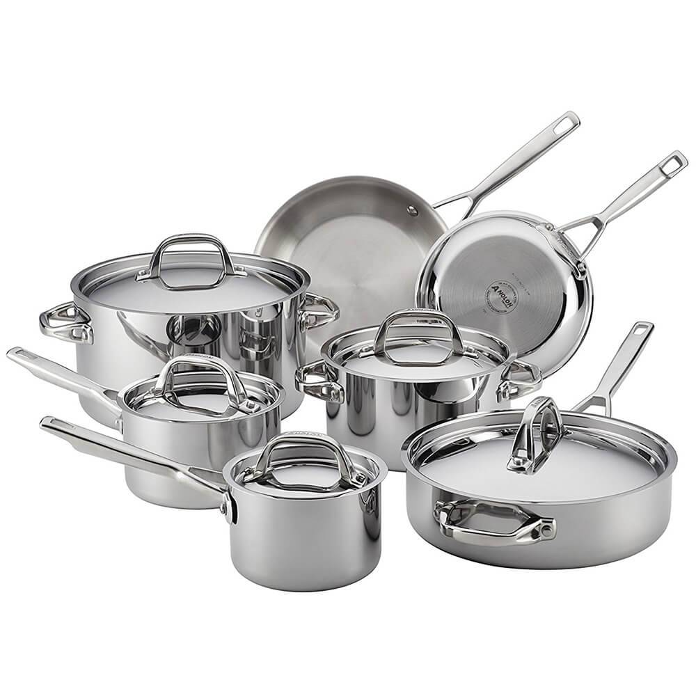 Tri-Ply Stainless 12-Piece Cookware Set