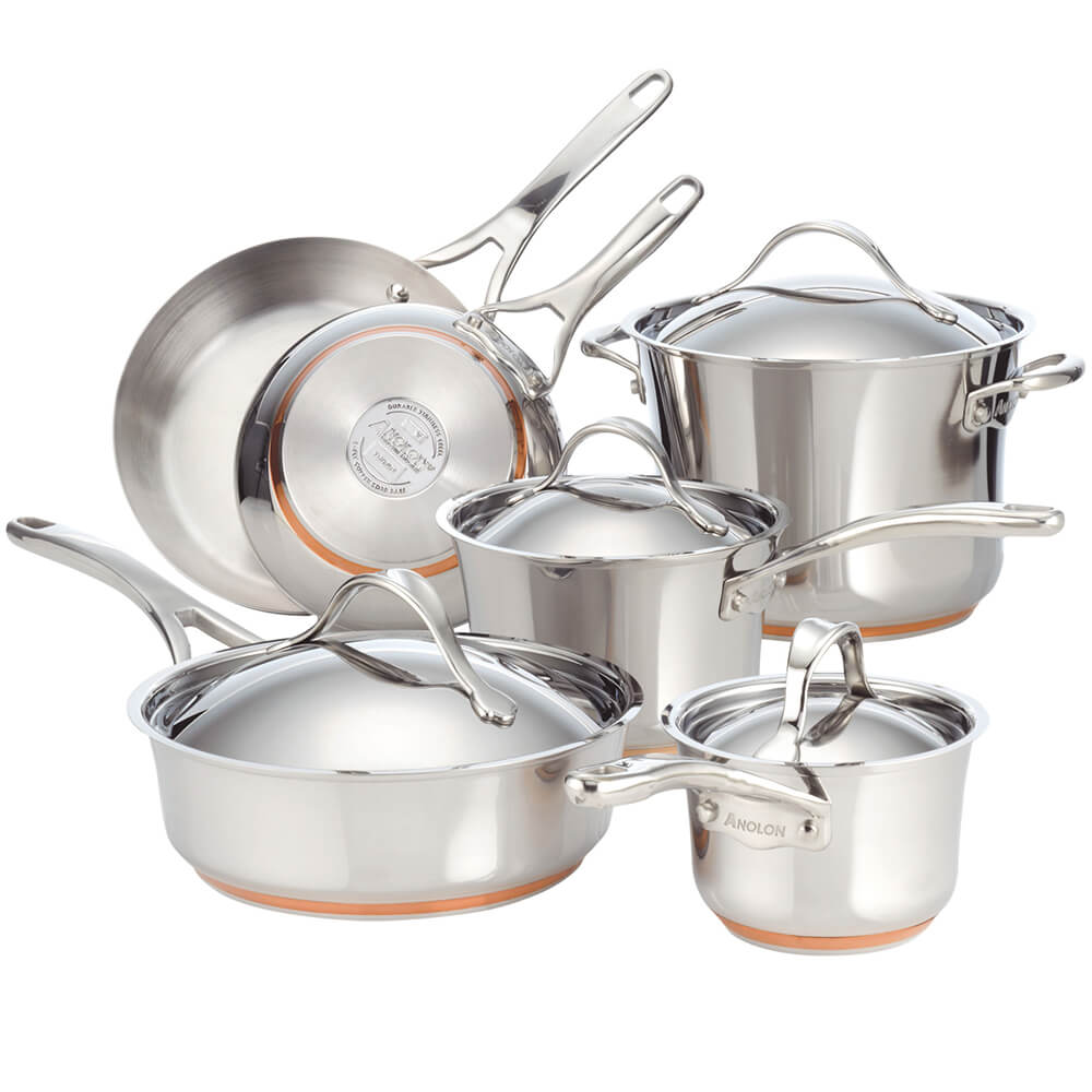 Nouvelle Stainless 10-Piece Cookware Set