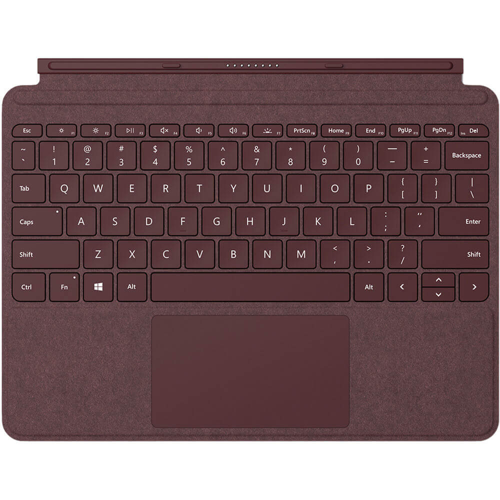 Surface Go Signature Type Cover - Burgundy