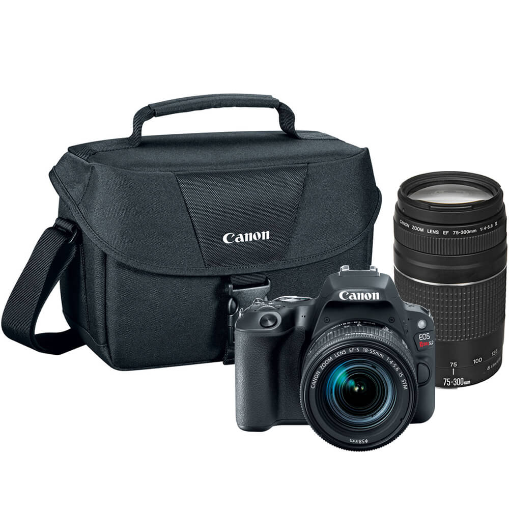 EOS Rebel SL2 DSLR Camera with 18-55mm and 75-300mm Lenses