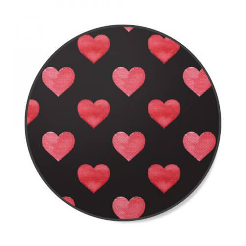 Universal Phone Grip & Stand - Red Hearts - OPEN BOX