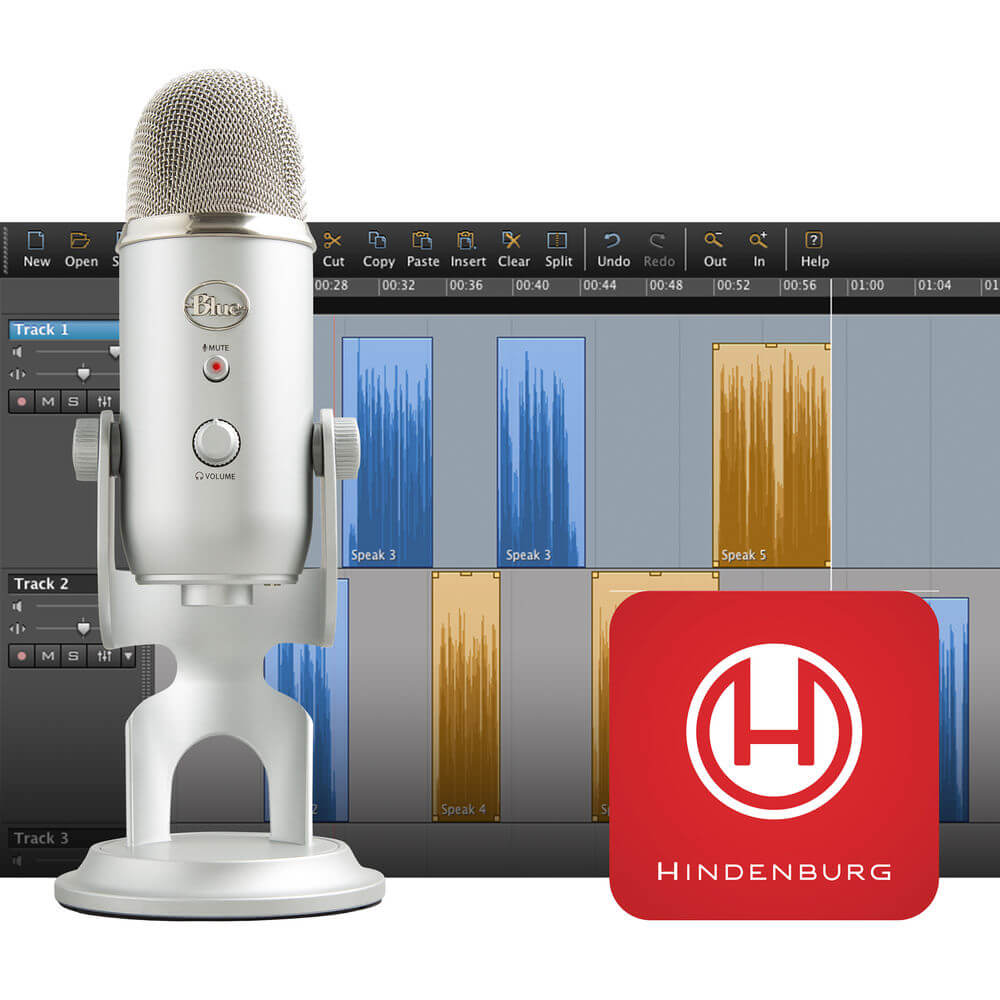Yeti Podcaster Kit with USB Microphone and Hindenburg Journalist DAW