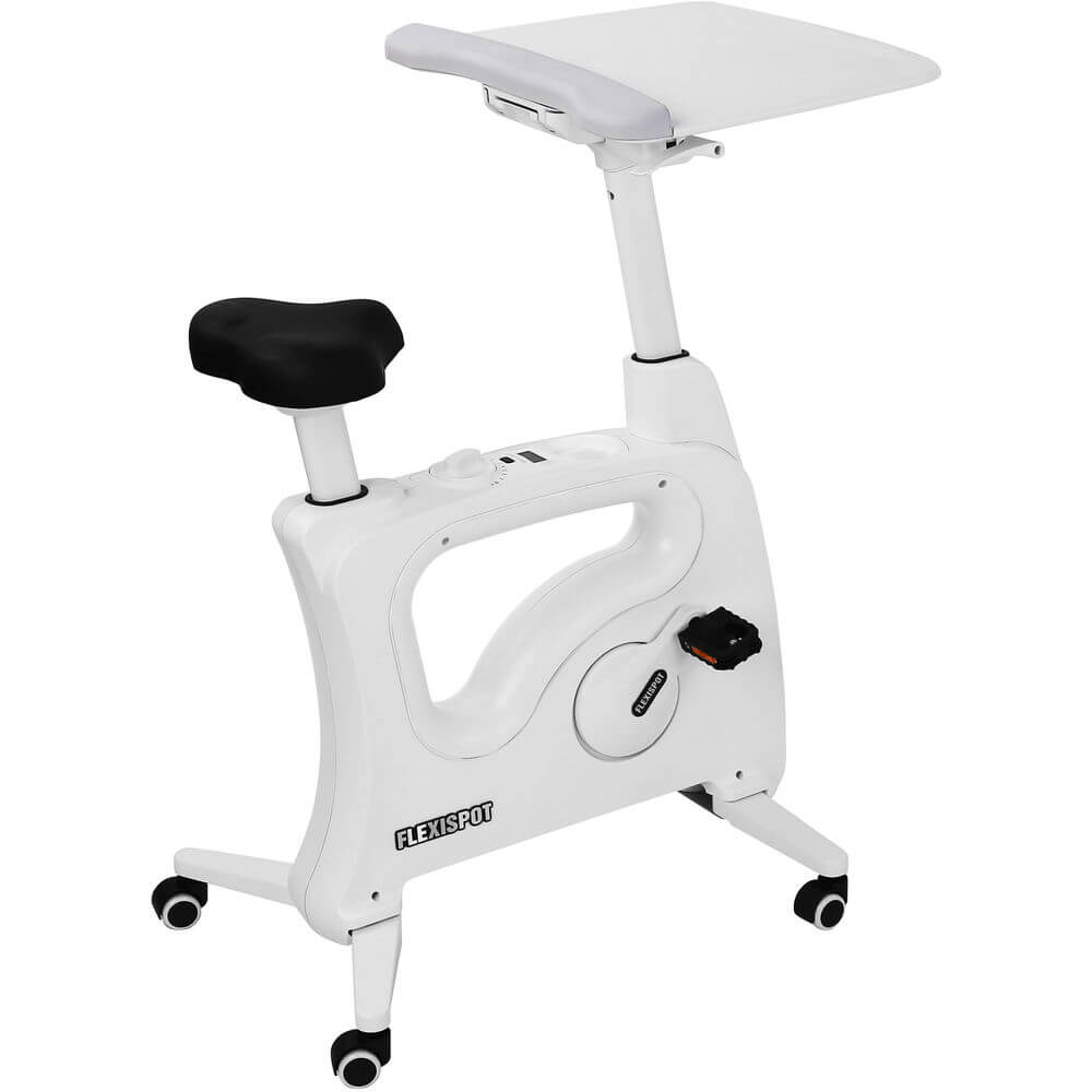 FlexiSpot V9 Desk Exercise Bike - White