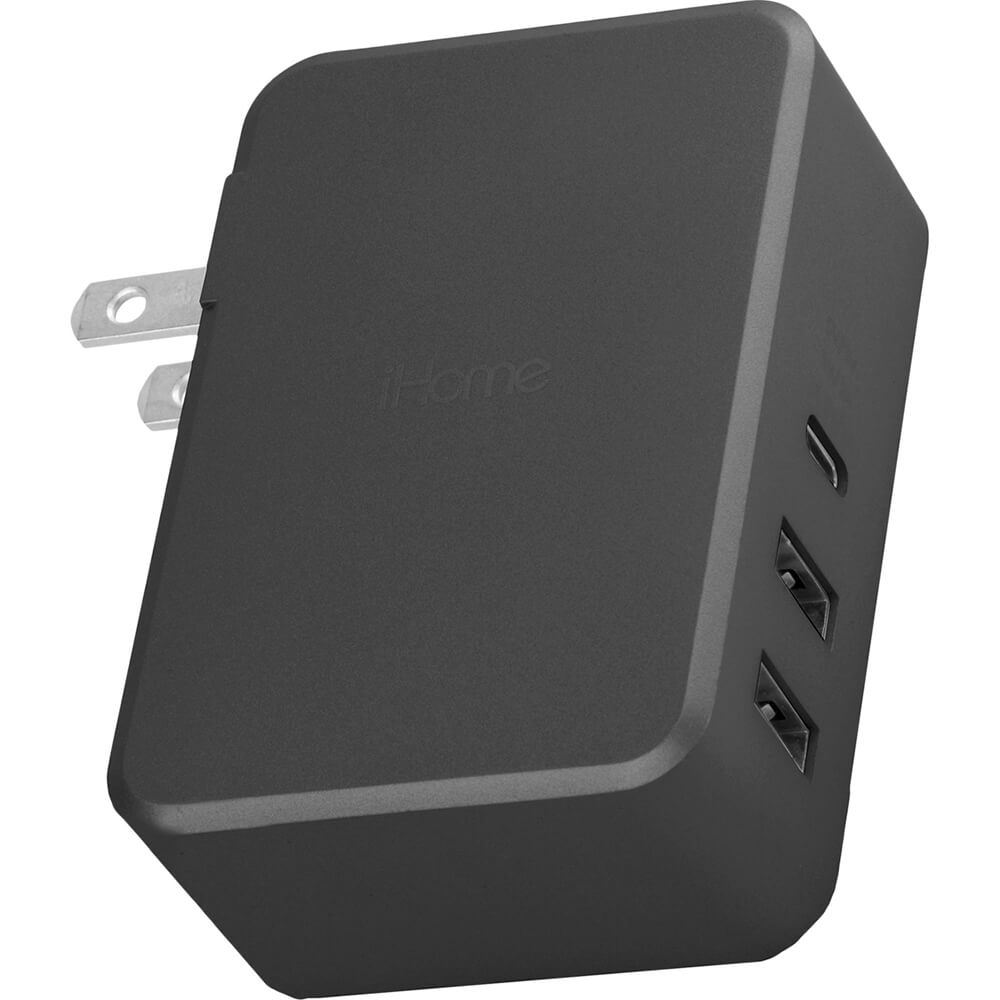 USB-C Portable Wall Charger - Black