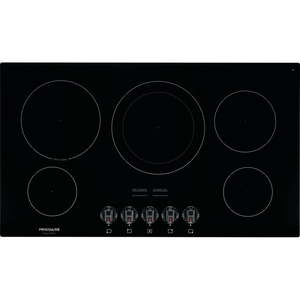 36 inch Black 5 Burner Electric Cooktop