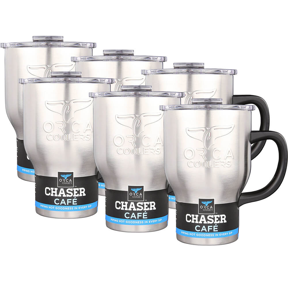 20 oz. Stainless Chaser Cafe Coffee Mug - 6 Pack