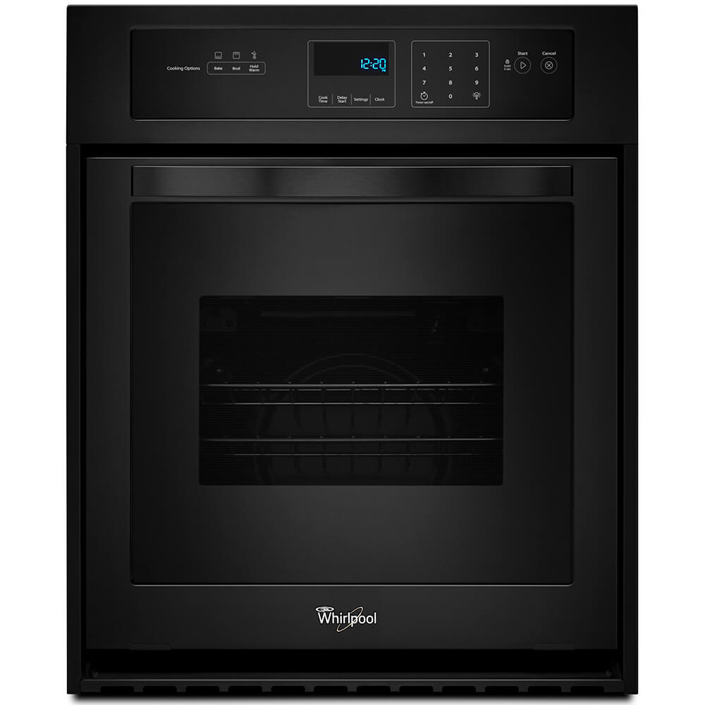 24 inch Black Electric Single Wall Oven