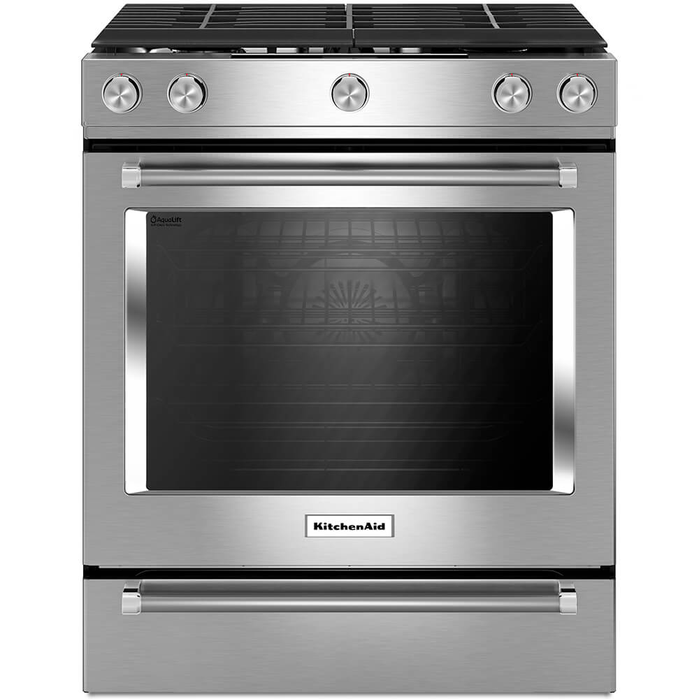 5.8 Cu. Ft. Stainless Convection Gas Range