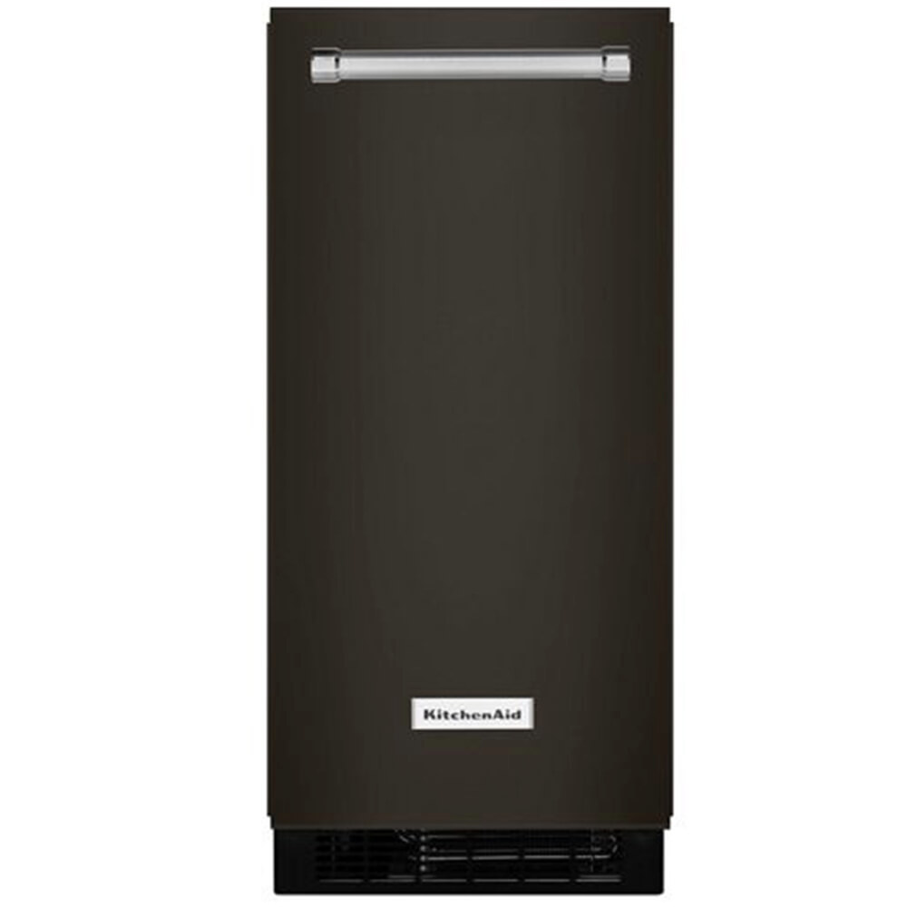 15 inch Black Stainless Ice Maker