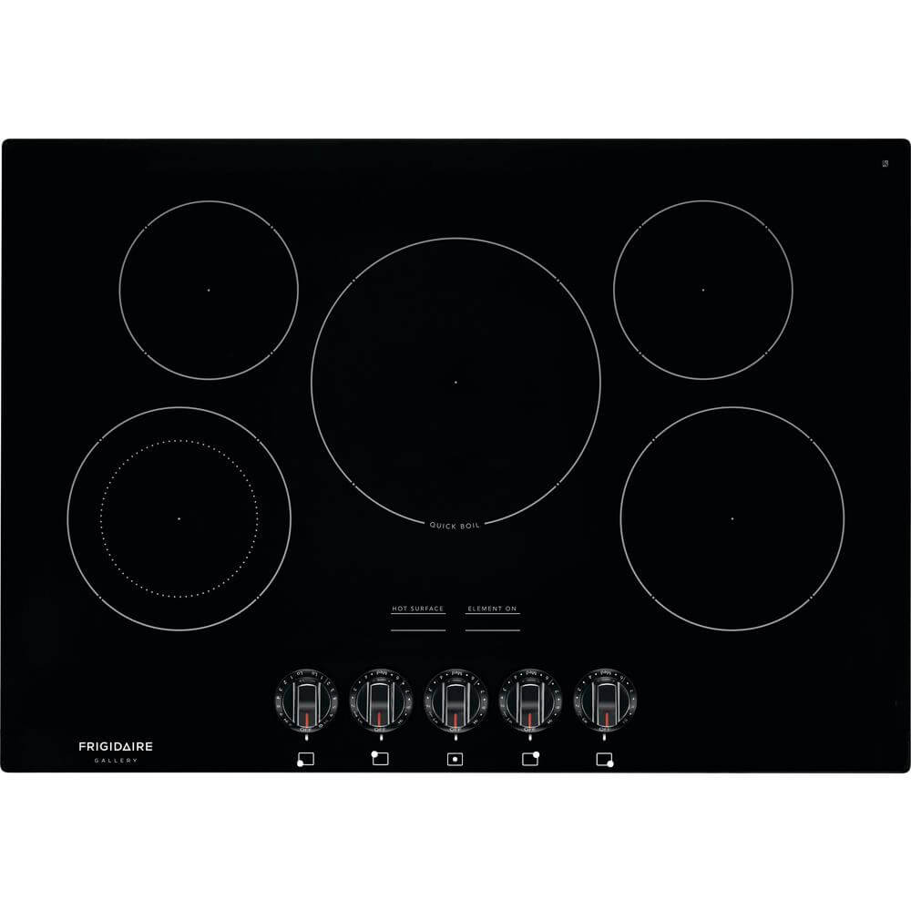 30 inch Black 5 Burner Electric Cooktop