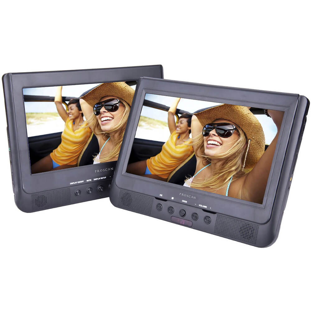 10.1 inch RECERTIFIED Dual Screen Portable DVD Player
